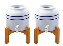 New Wave Enviro 796515300369-BL2wstand Porcelain Dispenser w