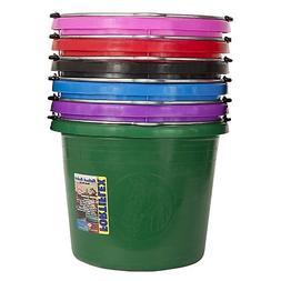 Fortiflex Flat-Back Bucket 6 Gallon Red