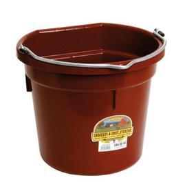 Miller Flatback Plastic Bucket Burgundy 20 Quart - P20FBBURG