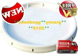 FOOD GRADE 5 Gallon Bucket Lid White with Gasket and Tear St