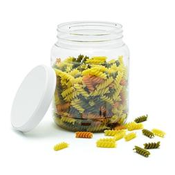 Food Grade 1/2 Gallon  Wide-Mouth Clear Storage Jar with scr