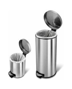 Garbage Trash Can Waste Step On Bin Kitchen Bathroom Gallon
