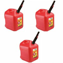 Gas Cans - 5 Gallon each, 3 Pack, Plastic Will Not Corrode o
