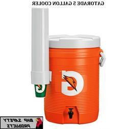 GATORADE 5 GALLON COOLER/DISPENSER WITH DETACHABLE CONE CUP