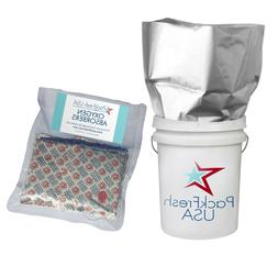 5 Gallon Genuine Mylar Bags  with 2000cc Oxygen Absorbers