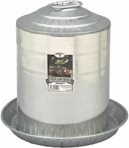 5 GALLON GRAVITY DOUBLE WALL GALVANIZED METAL WATERER CHICKE