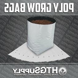 GROW BAGS Black and White Poly Plastic 1/2/3/5/7/10 gallons