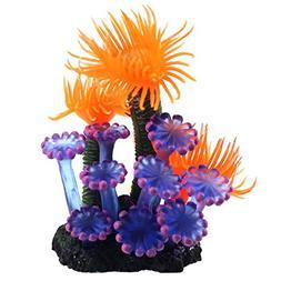 Wffo Home Soft Artificial Resin Coral Fish Tank, Aquarium Lo