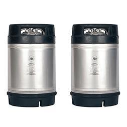 Homebrew Kegs - 2 Pack New 2.5 Gallon Ball Lock Kegs w/Relie