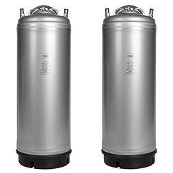 Homebrew - 2 Pack New 5 Gallon Ball Lock Kegs - Pressure Rel