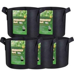 VIVOSUN Hydroponic Fabric Grow BagsPot with Handles Black 5P