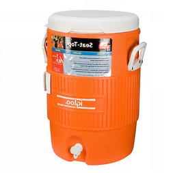 Igloo 5 Gallon Seat Top Cooler Includes Cup Dispenser Bracke
