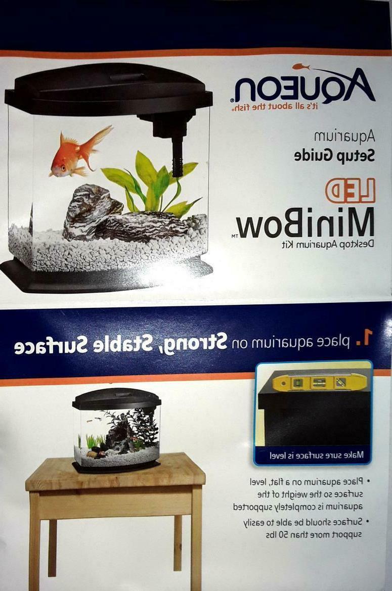 Aqueon Minibow Aquarium 1 Gallon,