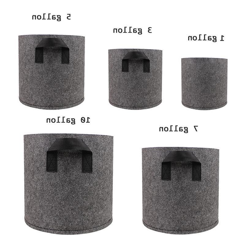 1/2/3/<font><b>5</b></font>/7/10 <font><b>Gallon</b></font> Black Felt Pots Plant Bag Pouch Garden Pots Supplies
