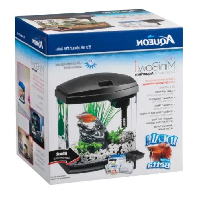 Aqueon 1 LED Desktop Fish Kit,