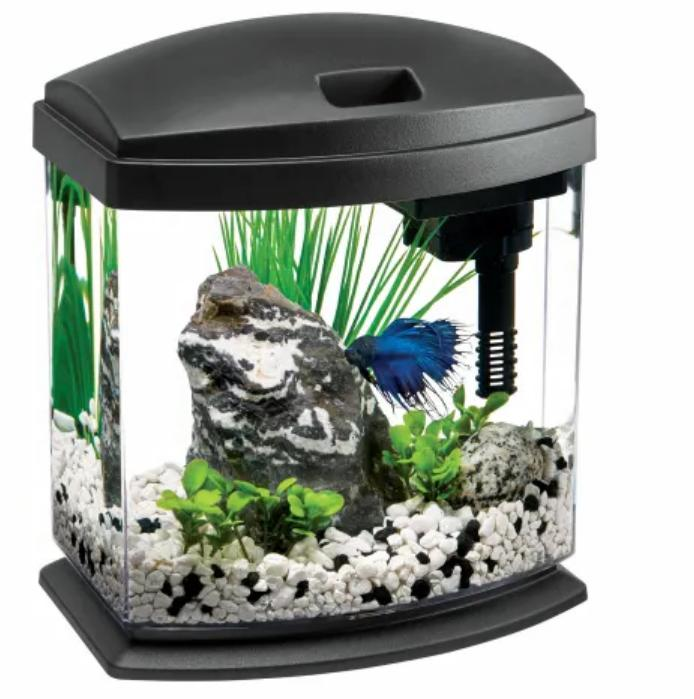 1 gallon minibow led desktop fish aquarium