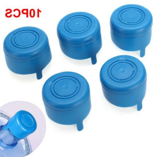 10pcs 5 Gallon Replace Water Bottle Snap On Cap Anti Splash