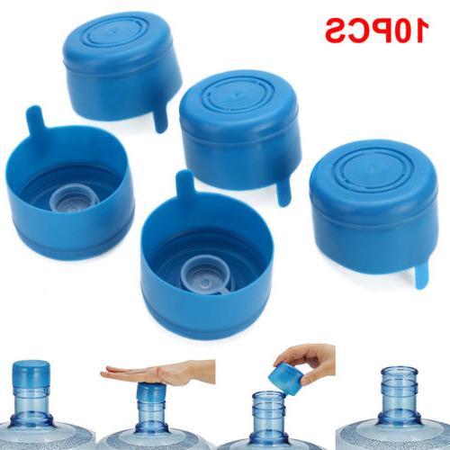 10x 5 Gallon Replacemet Water Bottle Snap On Cap Anti Splash