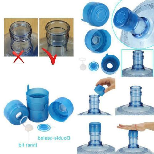 10Pcs 5 Water Bottle Anti Splash Barreled Cap