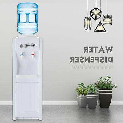5 Gallon Hot/Cold Loading Electric Freestanding Cooler White