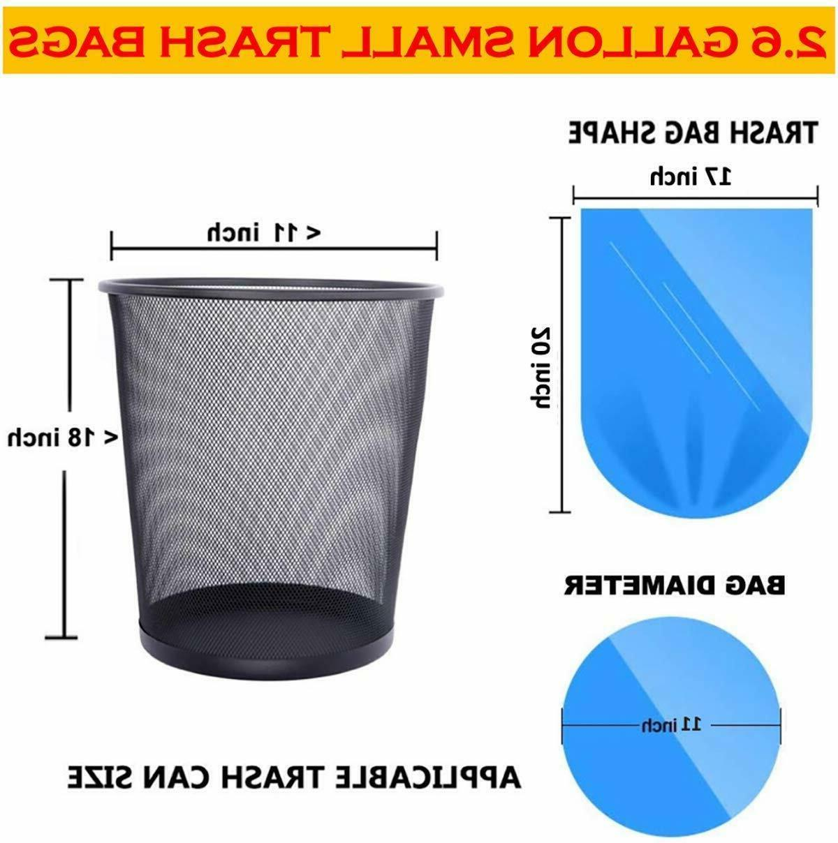 2.6 Gallon Bags Bathroom Trash Liners