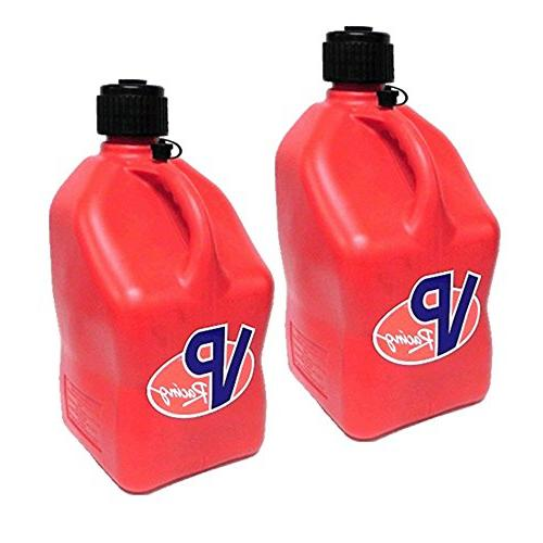 2 Pack VP 5 Gallon Square Red Racing Utility Jugs