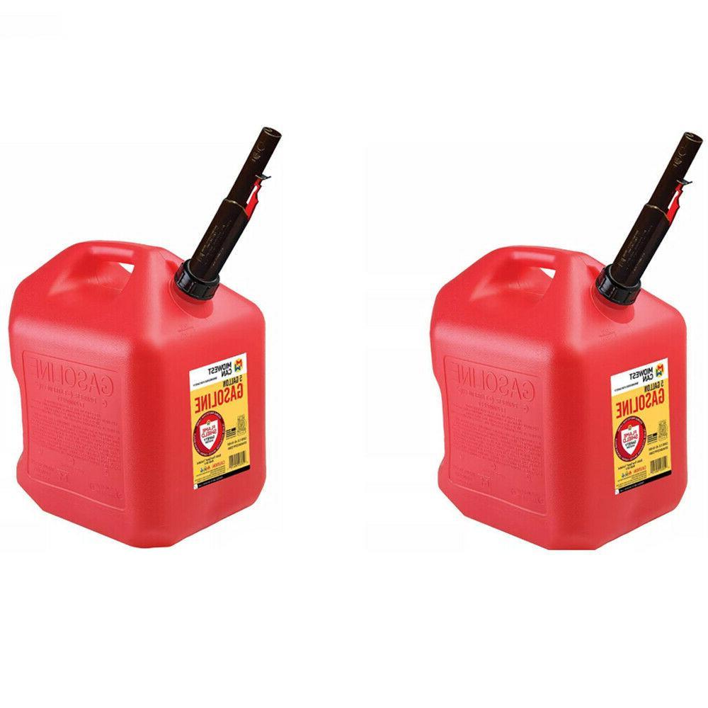 2 x gas cans 5 gallon capacity