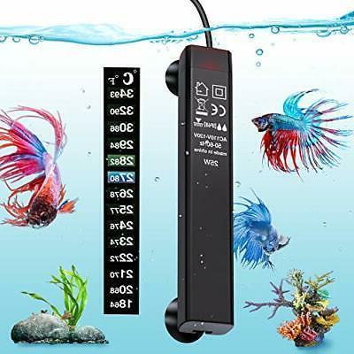 VIBIRIT Aquarium Heater,Betta Fish Tank Heater 25W Smart Sma