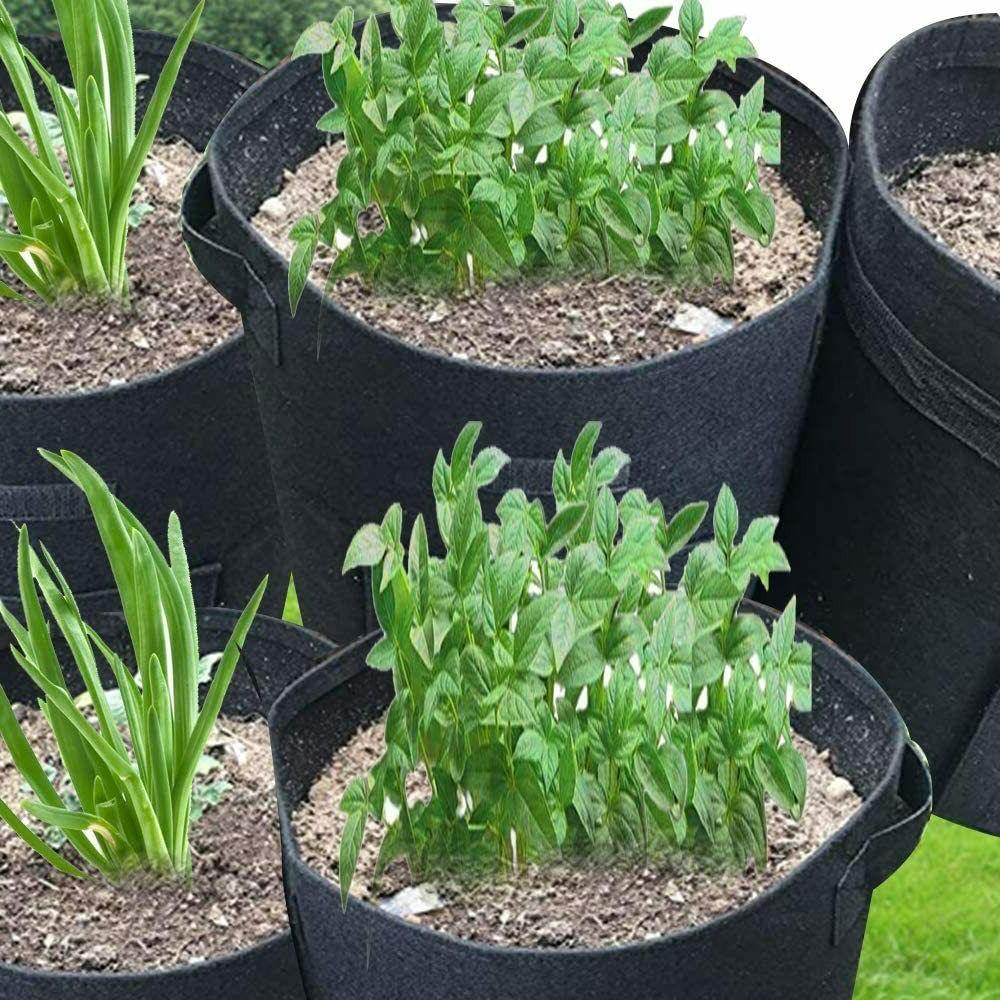 3gallon 5 pack Bags Fabric Growing Container Garden