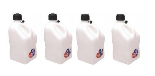 4 Pack VP 5 Gallon Square White Racing Utility Jugs