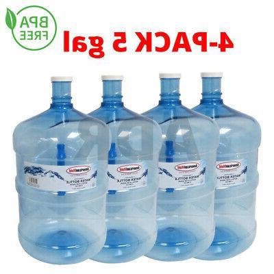 4 pack 5 gallon water bottle bpa
