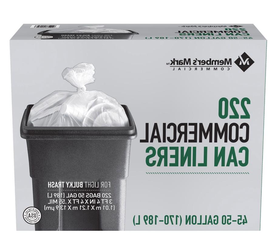 45 50 gallon commercial trash can liner
