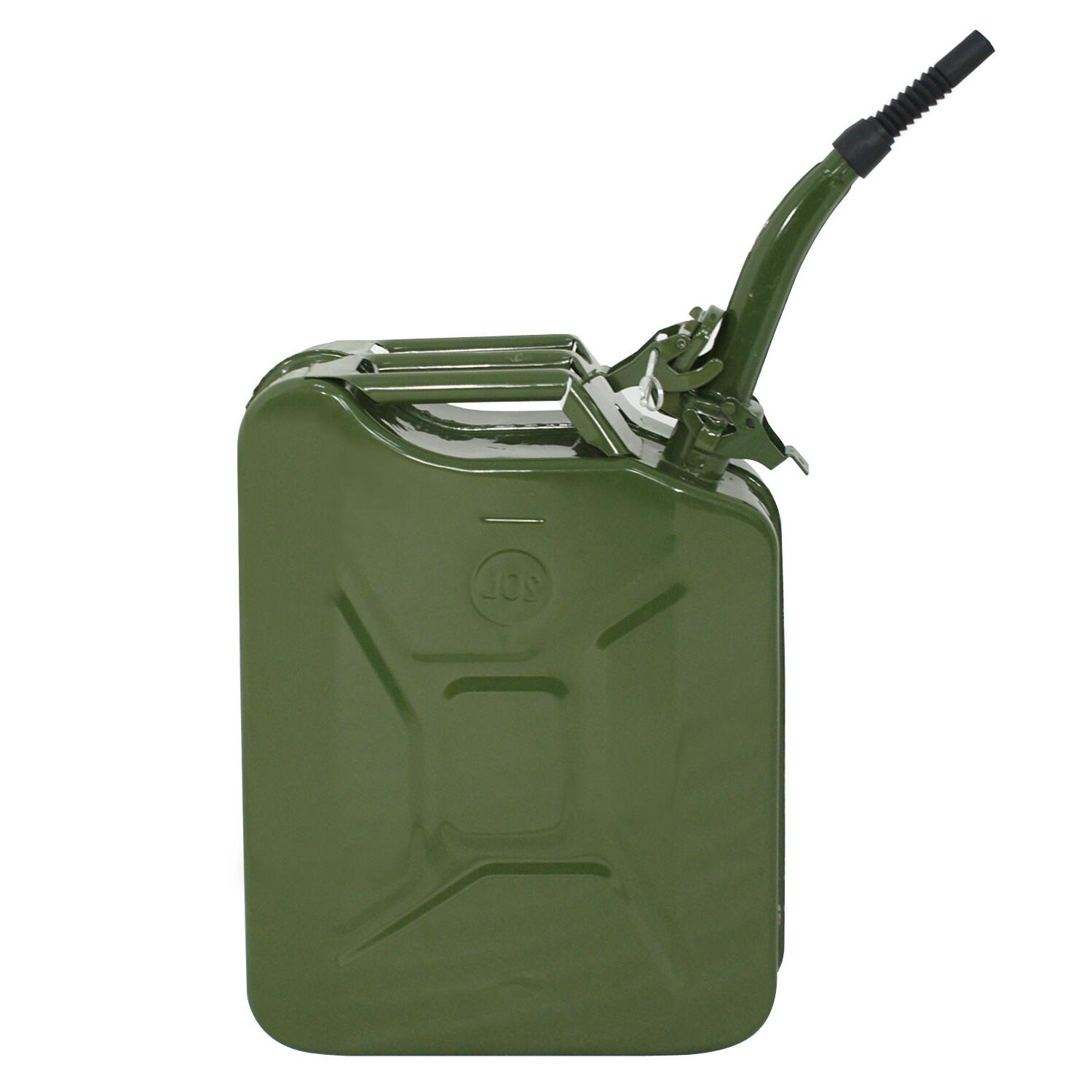 Jerry Can 20L Backup Steel Gas Gasoline Green