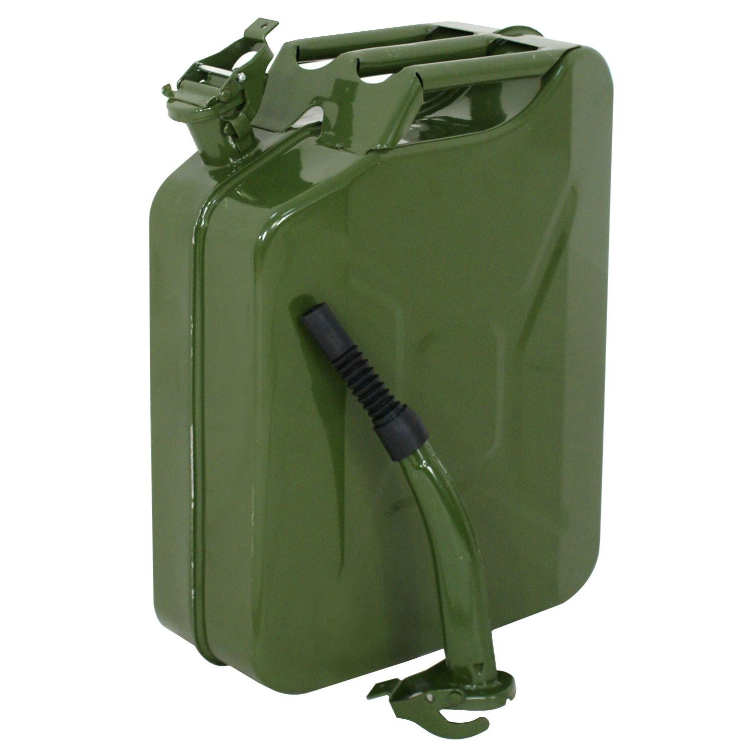 Green 20L Liter  Jerry Can Backup Steel Tank Fuel Gas Gasoli