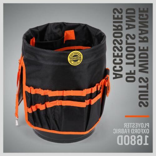 5 Bucket Organizer Tote Bag AUTO Tool Holder Storage Pocket
