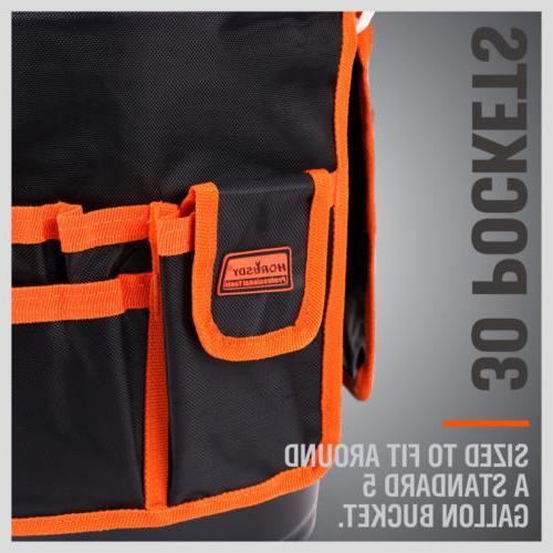 5 Bucket Tote Bag Gardening Tool 30 Pocket