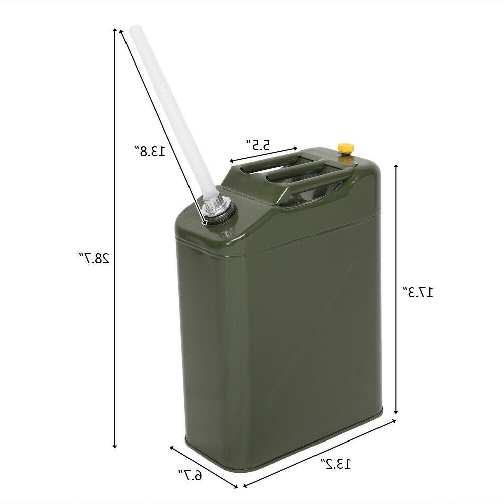 5 Gallon Gasoline Can Military Steel Tank