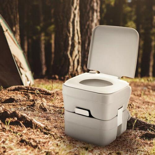 5 Toilet Flush Travel Camping Commode Potty