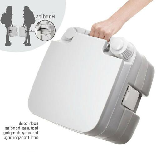 5 Gallon Toilet Camping Commode Potty Outdoor Indoor