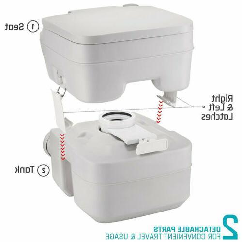 5 20L Toilet Flush Commode