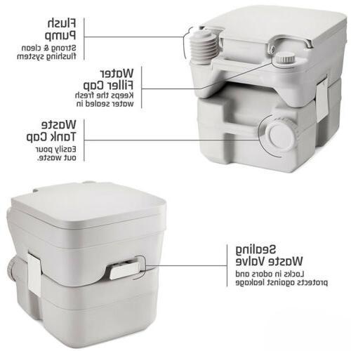 5 Gallon 20L Toilet Flush Camping Commode