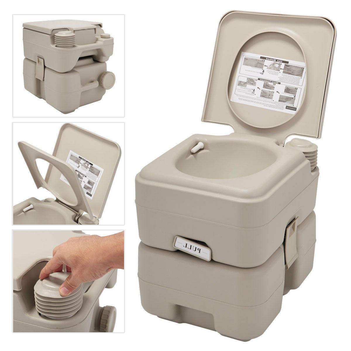 5 gallon 20l portable toilet flush travel