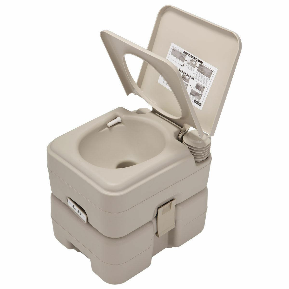 5 Gallon 20L Toilet Camping Commode Outdoor/