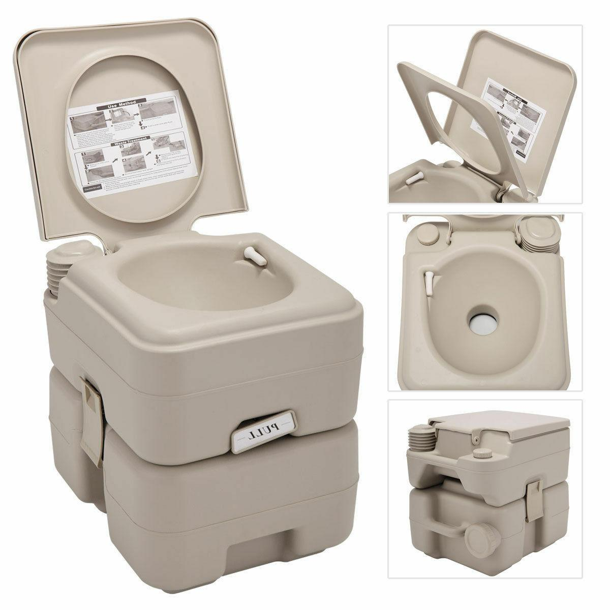 5 20L Toilet Flush Travel Camping Commode Potty Indoor