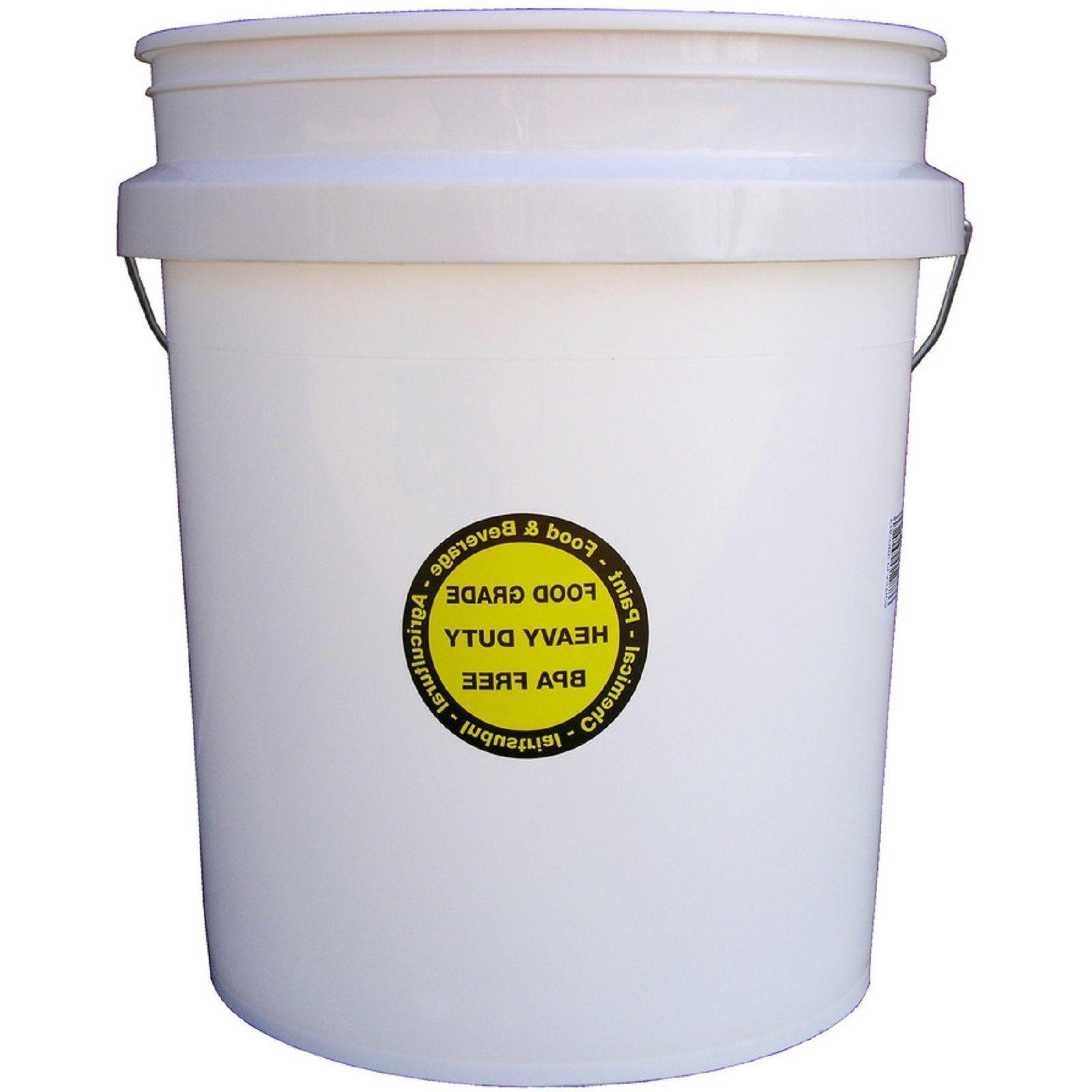 5 Gallon Bucket Lid Commercial Food Durable Pail