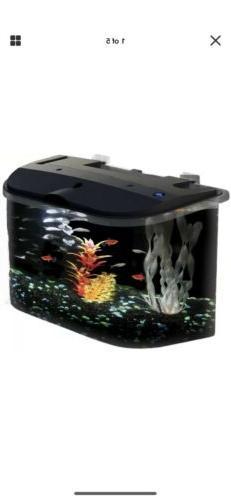 5 Gallon Aquarium Kit Big Fish Tank Led Light Filter Starter
