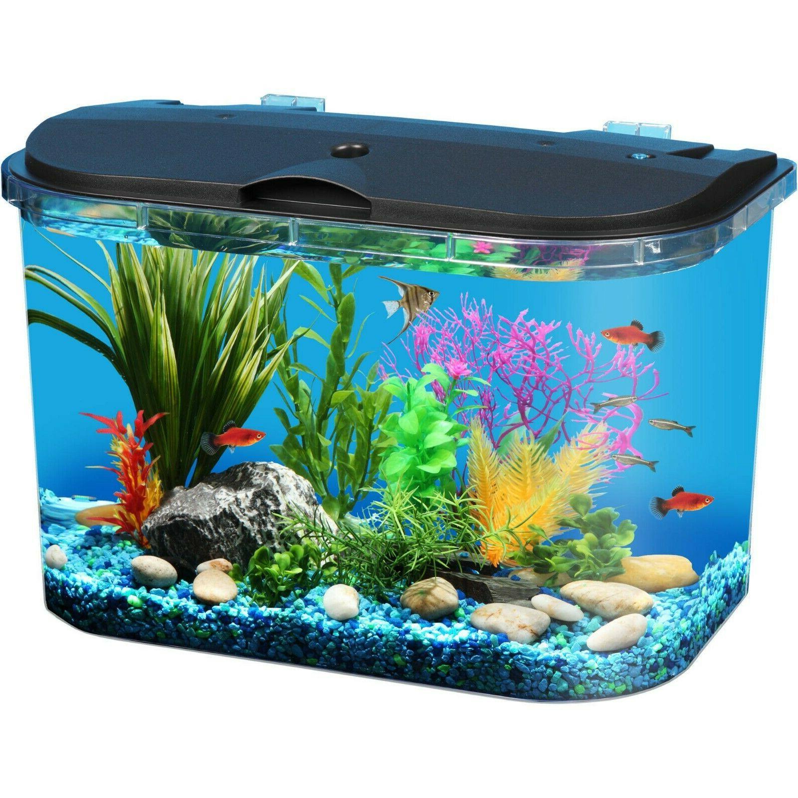 5-Gallon Fish Tank Panaview Aquarium with LED Lighting Kids