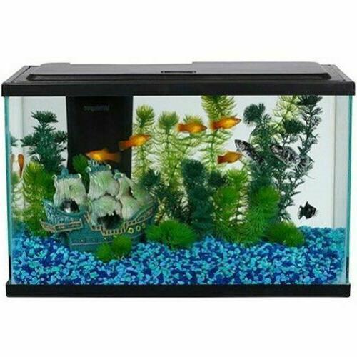 5-Gallon Aquarium Starter Kit W LED Light Fish Tank Complete