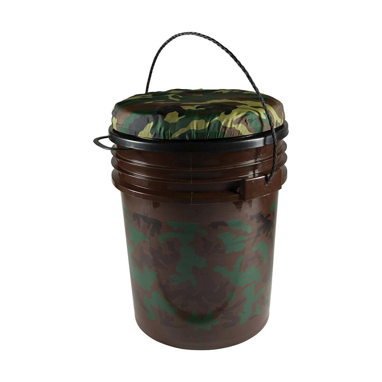 5 Gallon Bucket Seat Fishing Camo Swivel Hunting Outdoor Cam