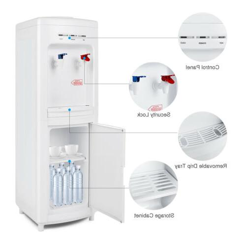 5 Gallon Freestanding Top Loading Hot/Cold Dispenser